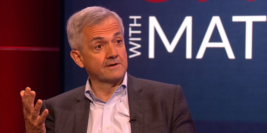 Unspun With Matt Forde. Chris Huhne. Copyright: Avalon Television.