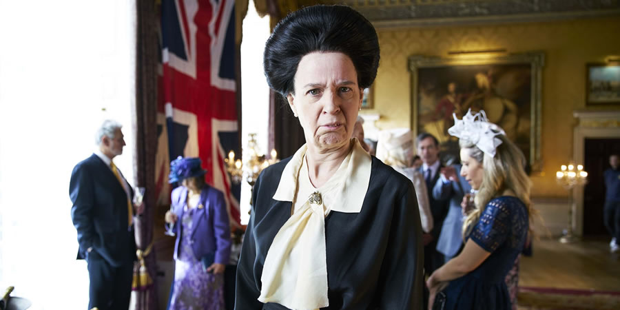 The Windsors. Princess Anne (Vicki Pepperdine). Copyright: Noho Film and TV.