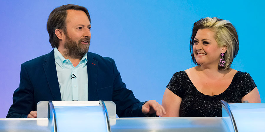 Would I Lie To You?. Image shows from L to R: David Mitchell, Kiri Pritchard-McLean. Copyright: Zeppotron.