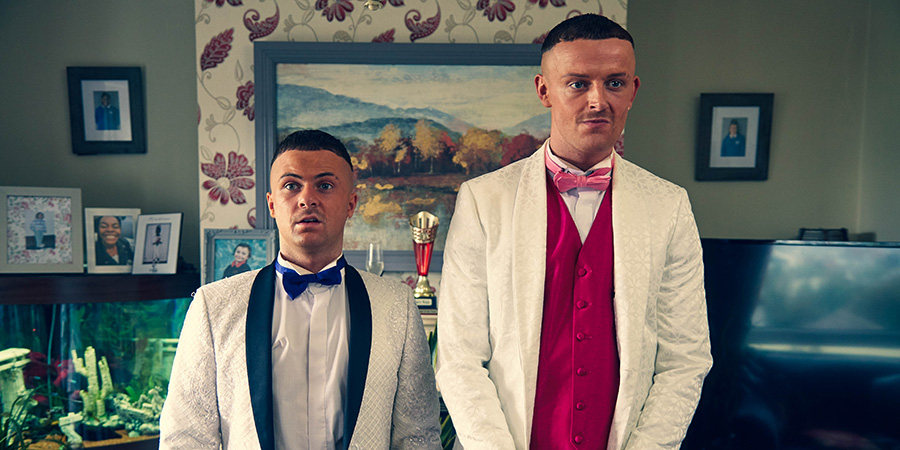 The Young Offenders. Image shows from L to R: Conor MacSweeney (Alex Murphy), Jock O'Keeffe (Chris Walley).