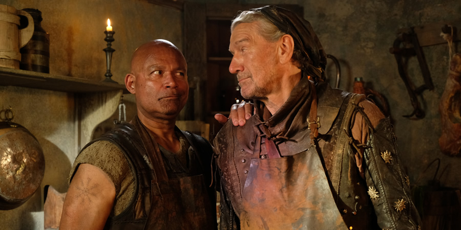 Zapped. Image shows from L to R: Herman (Louis Emerick), Svedd (Clive Russell).