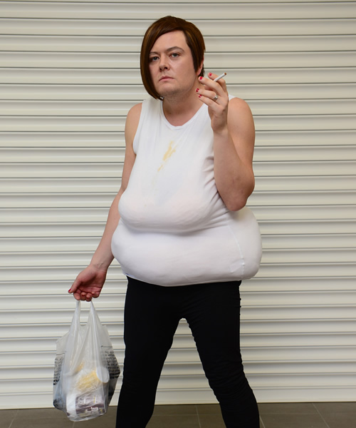 White Dee. Alan Carr. Copyright: Open Mike Productions.