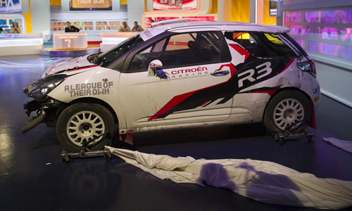The broken rally car. Copyright: CPL Productions.