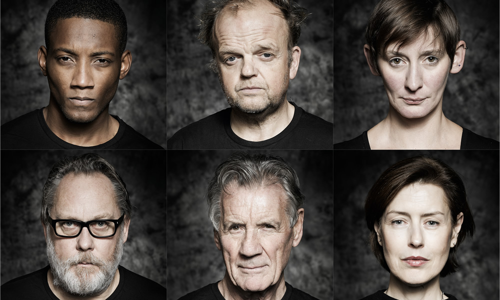 The Hartlepool Spy. Image shows from L to R: Garvey (Jason Forbes), Revd Ferrier (Vic Reeves), Mayor Palmer (Toby Jones), Cavendish (Michael Palin), Laura Elphinstone, Lady Embleton (Gina McKee). Copyright: BBC.