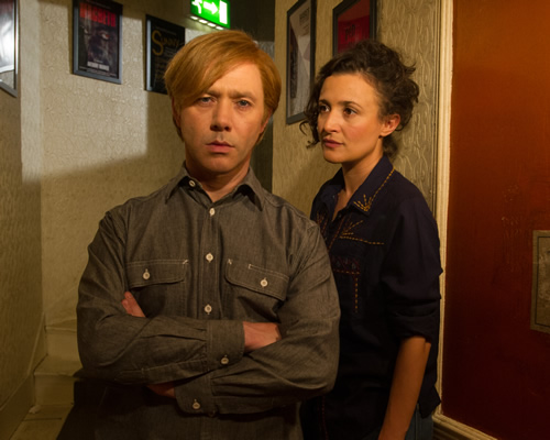 Inside No. 9. Image shows from L to R: Jim (Reece Shearsmith), Laura (Lyndsey Marshal). Copyright: BBC.