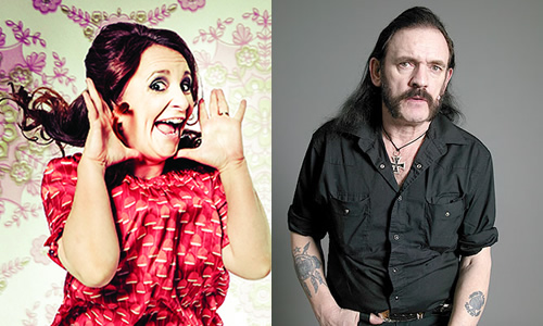 Lucy and Lemmy. Image shows from L to R: Lucy Porter, David Rose.