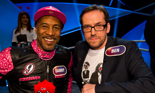 Pointless Celebrities. Image shows from L to R: Danny John-Jules, Ben Miller.