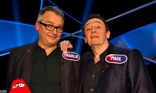 Pointless Celebrities. Image shows from L to R: Charlie Higson, Paul Whitehouse. Image credit: Remarkable Television.
