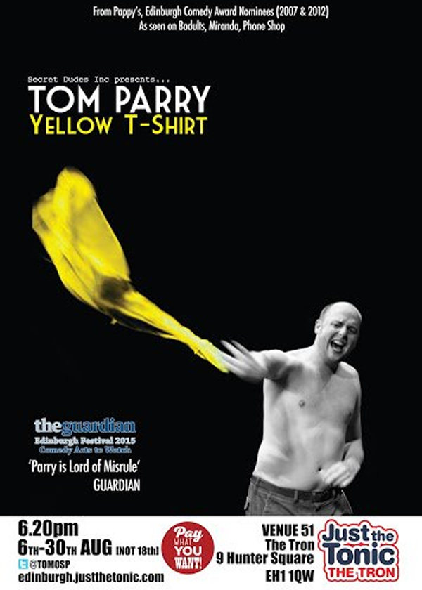 Tom Parry: Yellow T-shirt. Tom Parry.