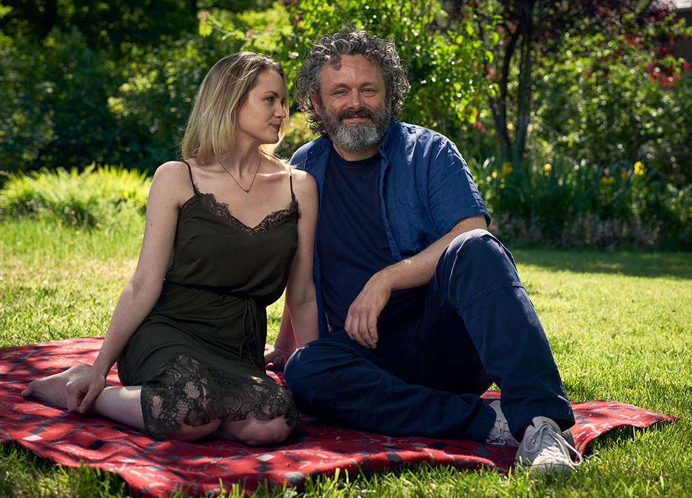 Staged. Image shows from L to R: Anna (Anna Lundberg), Michael (Michael Sheen). Copyright: BBC / Simon Ridgeway.