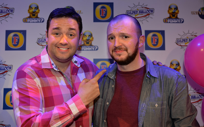 So You Think You're Funny? 2014. Image shows from L to R: Jason Manford, Aidan Strangeman.