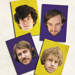 The Comedy Zone. Image shows from L to R: Ivo Graham, Davey See, Naz Osmanoglu, Josh Widdicombe. Copyright: Yorkshire Television.