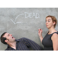 Your Days Are Numbered: The Maths of Death. Image shows from L to R: Matt Parker, Timandra Harkness. Copyright: BBC.