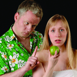 The Diaries of Adam and Eve. Image shows from L to R: Elton Townend Jones, Rebecca Vaughan.