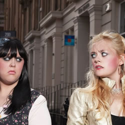 Direct Devitt: Mammy. Image shows from L to R: Sharon Rooney, Vivien Taylor. Copyright: BBC.