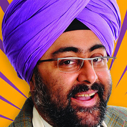 Chat Masala with Hardeep Singh Kohli. Hardeep Singh Kohli. Copyright: London Weekend Television.