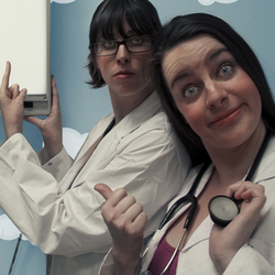 Jo and Brydie Play Doctor. Copyright: BBC.