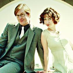 Hot Tub with Kurt and Kristen. Image shows from L to R: Kurt Braunohler, Kristen Schaal.