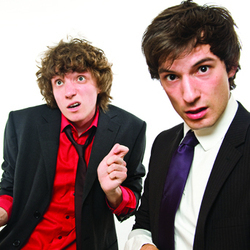 Mabbs & Justice: Love Machine. Image shows from L to R: James Mabbett, Adam Justice. Copyright: The Comedy Unit.