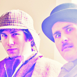 Max and Ivan Are Holmes and Watson. Image shows from L to R: Max Olesker, Ivan Gonzalez.