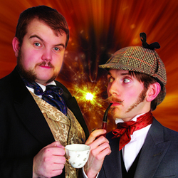 Morgan & West: Crime Solving Magicians. Image shows from L to R: Rhys Morgan, Robert West.