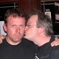 Pointless Anger, Righteous Ire 2: Back in the Habit. Image shows from L to R: Michael Legge, Robin Ince.