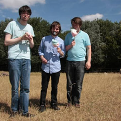 Sheeps: A Sketch Show. Image shows from L to R: Daran Johnson, Liam Williams, Alastair Roberts.