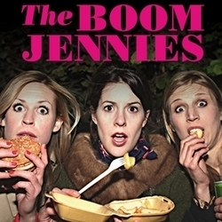 The Boom Jennies: Blowout. Image shows from L to R: Anna Emerson, Catriona Knox, Lizzie Bates.