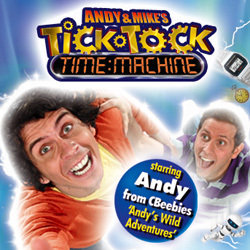 Andy and Mike's... Tick Tock Time Machine. Image shows from L to R: Andy Day, Mike James. Copyright: Avalon Television.