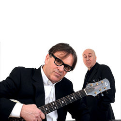 Chris Difford and Norman Lovett: It's All About Me!. Image shows from L to R: Chris Difford, Norman Lovett. Copyright: Jellylegs.