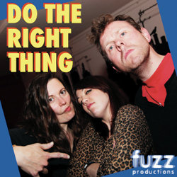 Do The Right Thing. Image shows from L to R: Margaret Cabourn-Smith, Danielle Ward, Michael Legge. Copyright: Jack Hylton Productions.
