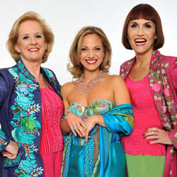 Fascinating Aïda: Cheap Flights. Image shows from L to R: Dillie Keane, Liza Pulman, Adèle Anderson.