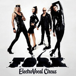 Fork - Electro Vocal Circus. Image shows from L to R: Kasper Ramström, Anna Asunta, Jonte Ramsten, Mia Hafrén. Copyright: Vera Productions.