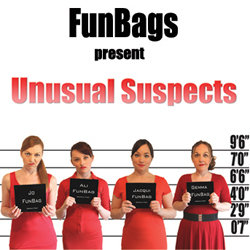 FunBags present Unusual Suspects. Image shows from L to R: Alison Ward, Jacqui Curran, Jo Burke, Gemma Layton.