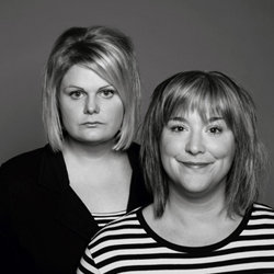 Hanks and Conran: Pigs In Blankets. Image shows from L to R: Susan Hanks, Lou Conran. Copyright: Mithras Films.