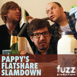 Pappy's Flatshare Slamdown. Image shows from L to R: Ben Clark, Matthew Crosby, Tom Parry.