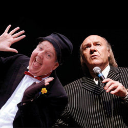 Mick Miller and Jimmy Cricket. Image shows from L to R: Jimmy Cricket, Mick Miller. Copyright: BBC.