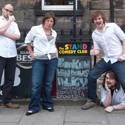 The Broken Windows Policy. Image shows from L to R: Robin Hellier, Larah Bross, Dave McGregor, Ben Verth.
