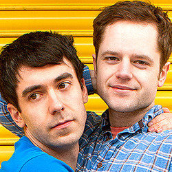 Adam Hess and David Elms. Image shows from L to R: Adam Hess, David Elms. Copyright: Peter Rogers Productions.