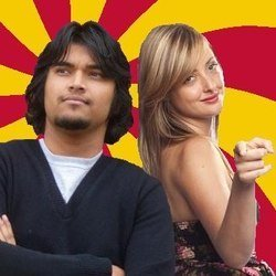 Bollywood Rejects. Image shows from L to R: Sid Singh, Erin Melville. Copyright: BBC.