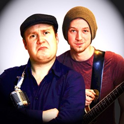 Jonny & the Baptists: Bigger Than Judas. Image shows from L to R: Jonny Donahoe, Paddy Gervers.