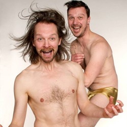 New Art Club: Feel About Your Body. Image shows from L to R: Pete Shenton, Tom Roden. Copyright: The Comedy Unit.
