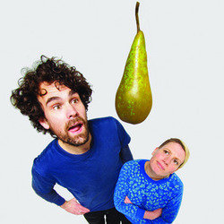 Short & Curly - A Ripe Pear. Image shows from L to R: Paul F Taylor, Rebecca Shorrocks. Copyright: BBC.