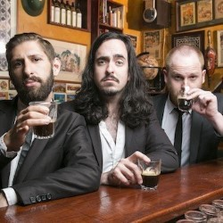 Aunty Donna. Image shows from L to R: Mark Bonanno, Broden Kelly, Zachary Ruane. Copyright: Rank Organisation.