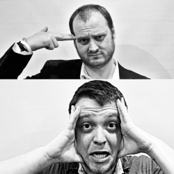 Chris Griffin and Ross Leslie Present Two Flew Over the Cuckoo's Nest. Image shows from L to R: Ross Leslie, Chris Griffin. Copyright: Eleven Film.