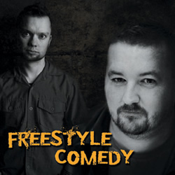 Molland & Sullivan: Freestyle Comedy. Image shows from L to R: Sully O'Sullivan, Rick Molland. Copyright: Talkback Productions.