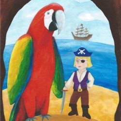 Pirate and Parrot. Copyright: Foghorn Productions.