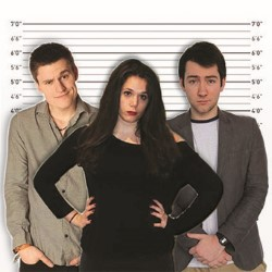 The Usual Rejects. Image shows from L to R: Christian Elderfield, Lea Emery, Ben Shannon.
