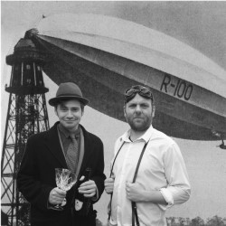 Brody and Chadwick's Great Blimp Deception. Image shows from L to R: Giles Brody, Colin Chadwick. Copyright: Avalon Television.