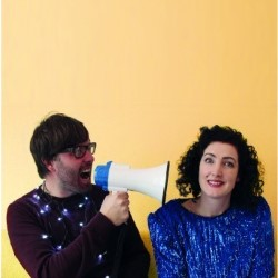 Cassie Atkinson and Oh Standfast: Comedy in Progress. Image shows from L to R: Graham Goddard, Cassie Atkinson.